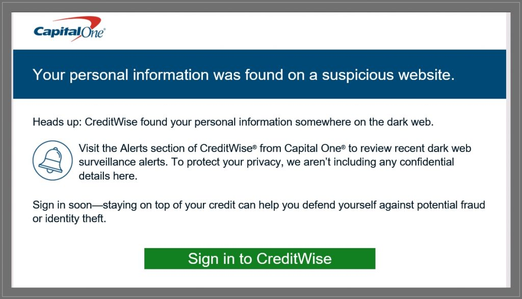 Creditwise Email