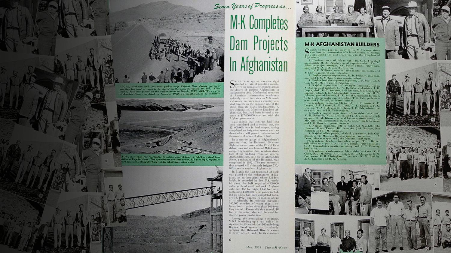 M-K Completes Dam Projects in Afghanistan